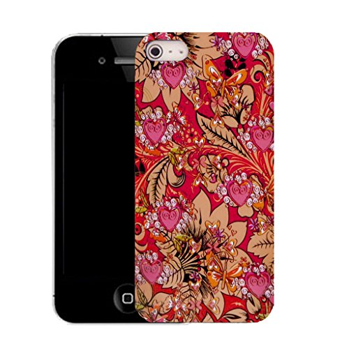 Mobile Case Mate IPhone 5S clip on Silicone Coque couverture case cover Pare-chocs + STYLET - mimosa pattern (SILICON)