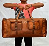 thehandicraftworld vintage leather messenger brown real luggage travel bag genuine briefcase