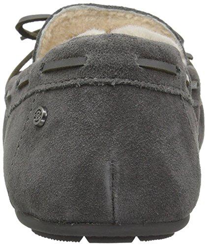 206 Donne Collettivi Pearson Shearling Mocassino Pantofola Camoscio Grigio