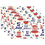 Top Carpenter 4pcs Independence Day Of America Placemat - 12x18in - Washable Heat Crease Resistant Printed Place Mat for Kitchen Dinner Table by