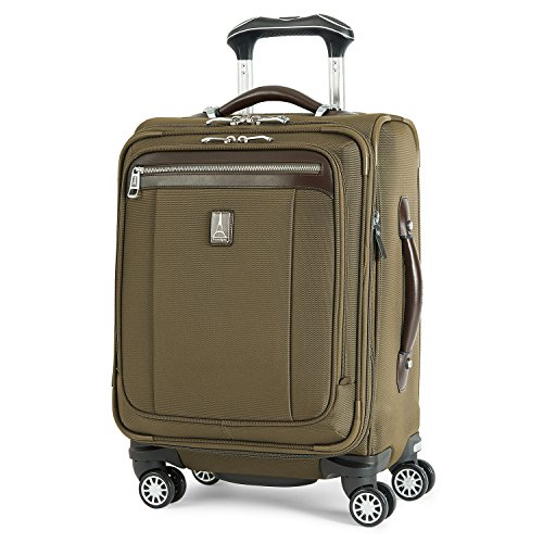Travelpro PlatinumMagna2 International Carry-On Expandable Spinner Carry-On Suitcase, 20-in., Olive