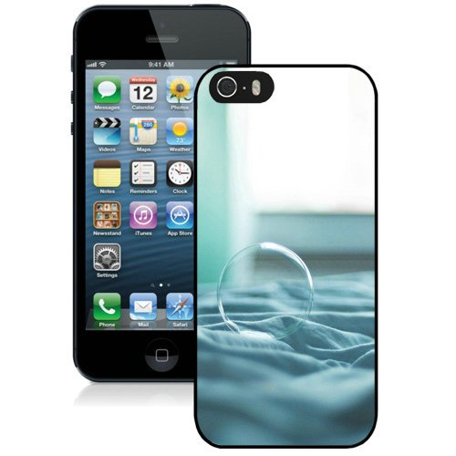 Coque,Fashion Coque iphone 5S Bubble Soap Bed Noir Screen Cover Case Cover Fashion and Hot Sale Design