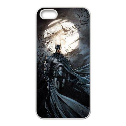Batman coque iPhone 4 4S Housse Blanc téléphone portable couverture de cas coque EBDOBCKCO09727
