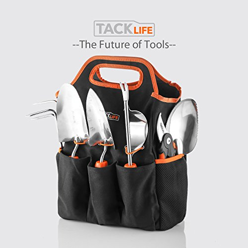 Garden tools set 7 piece stainless steel heavy duty for Gardening gifts for men
