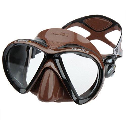 - Mares X-VU Liquid Skin Spearfishing Mask, Brown Camo