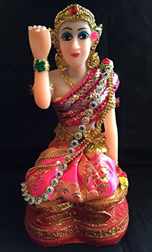 11-tall-thai-green-gold-nang-kwak-goddess-statue-figurine