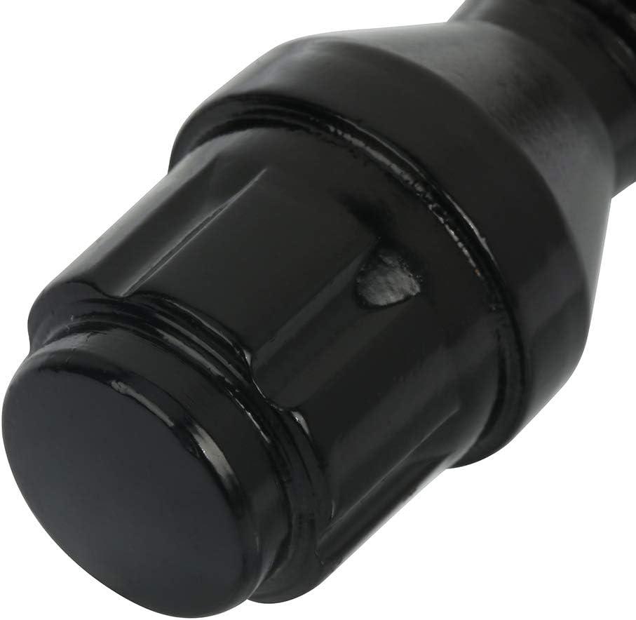 1PCS Lug Nuts Key fit for AUDI MERCEDES VW FINDAUTO 12x1.5 40mm 10PCS Black Wheel Lug Bolts