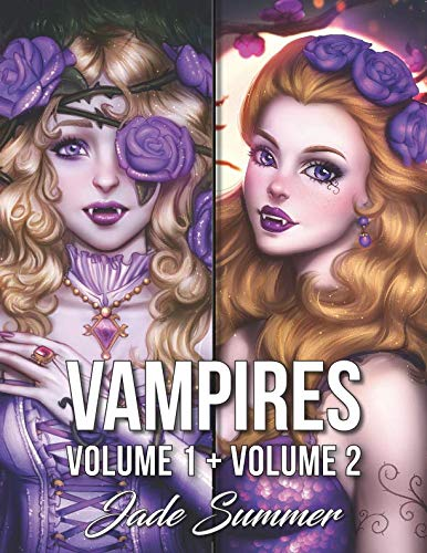 Vampires: An Adult Coloring Book Collection with Sexy Vampire Women, Dark Fantasy Romance, and Haunting Gothic Scenes for Relaxation -