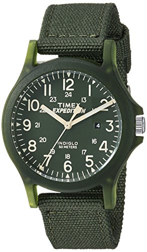 - Timex Unisex TW4B09500 Expedition Acadia Mid-Size Green Nylon Strap Watch