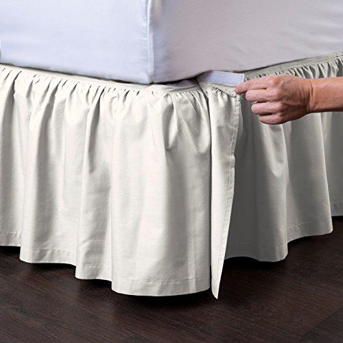 Ashton Detachable Bedskirt (King Size, Cream, 18
