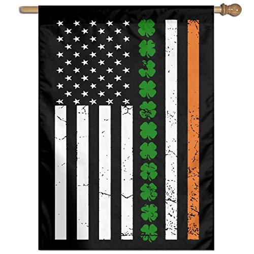 St Patricks Day Irish American Flag Fashion Outdoor/Indoor Garden Flag Gift Flag]()