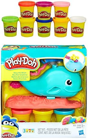 Play-Doh ondulado la ballena + Play-Doh Rainbow Starter Pack ...