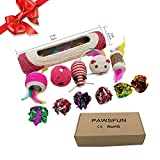 Cat Toys Pack of 12 Best Rolling Sisal Scratching Post Trapped Interactive Toys With Bells For Kitten Entertainment Exercise Training