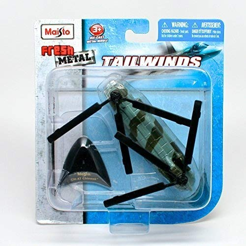 Boeing CH-47 Chinook Heavy-Lift Helicopter * Tailwinds * 2011 Maisto Fresh Metal Series Die-Cast Aircraft Collection, - Aircraft Collection