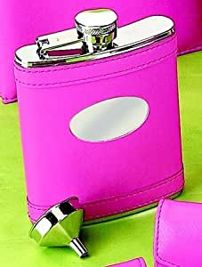 Creative Gifts International 021020 Hot Pink Leatherette Flask
