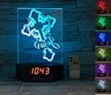 ATOMFIT CRUCIFIXION OF JESUS+HOLY CROSS 3D LED Night Light for Home, Table or Desk Lamp, 3D LED Illusion Lamp With 7 Color Switching, Effects - 3D LED Clock Base With Temperature Sensor, Ideal Gift