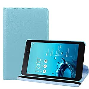 Sannysis(TM) 1PC Simple 360 Degree Rotating Leather Case Cover For ASUS FonePad 7 FE170CG (Sky Blue)