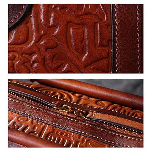 La Relief Peint 26 Rétro Sac Purple Marron Main Haute Main Xrkz red Qualité 14 En Cuir 5 20cm De À 7vCwPOwq