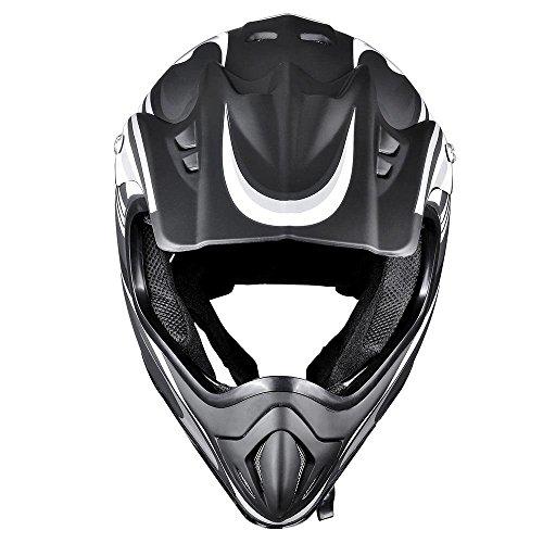 LeeMas Inc Motocross Helmet Off-Road DOT Outdoor Full Face MX Dirt Bike Motorcycle ATV UTV Crash Cross Downhill Four Wheeler Quad Dirt Bike Adult Black XL