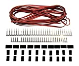 JR Style Servo Extension Kit W/ 10 Pairs Of Connector Plugs & 15' 22Awg Servo Wire - Apex RC Products #1226