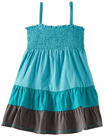 Roxy Little Girls' Block Party Woven Dress Bgd0, Sky Blue, 2