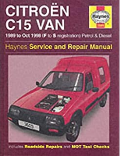 Citroen C15 Van Petrol & Diesel (89 - Oct 98) Haynes Repair Manual (