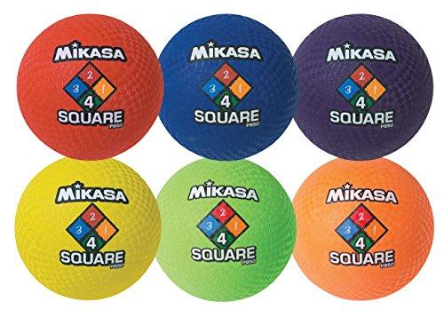 Playground Ball Set, 8-1/2 Dia in, Assorted, 4-Square, Round, Set of 6 (Mikasa Playground Ball)