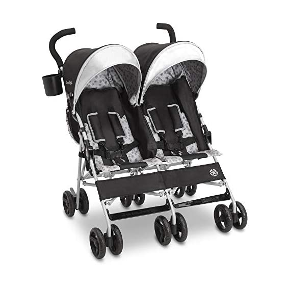 J is for Jeep Brand Scout Double Stroller, Charcoal Galaxy