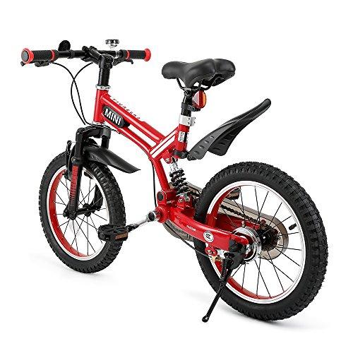 RASTAR Full Suspension Kid's Bike, Mini Cooper Kid's Bicycle 16 inch - Red, Top for Kids 2018 by RASTAR (Image #8)