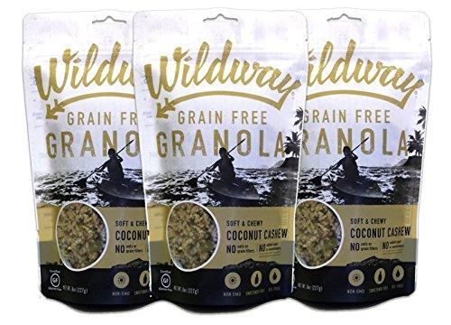 (Wildway Vegan Granola | Coconut Cashew | Certified Gluten-Free, Grain-Free, Paleo, Non-GMO, No Artificial Sweetener, 8oz -)