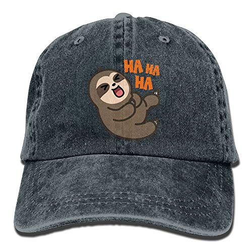 WANING MOON Happy Sloth Cowboy Hat Adjustable Baseball Cap Sunhatcap Peaked Cap