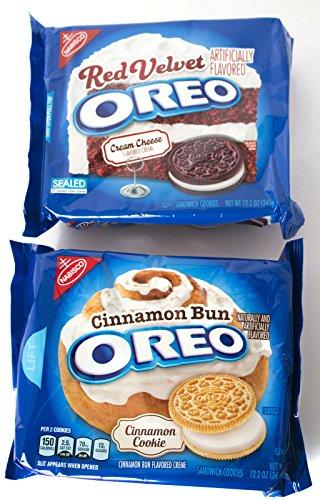 Oreo Cookie Dessert Bundle: (1) 12oz Cinnamon Bun, (1) 12oz Red Velvet ()