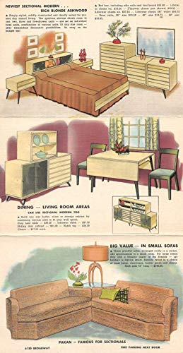 Chicago Illinois Pakan Furniture Advertising Fold Out View Postcard JE229076