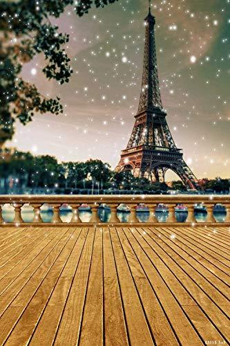 (Tower Wood Floor Star Tree 6' W x 9' H Video Studio Background Digital Printed Seamless Photography Background RKA Series Photographic Backdrop)