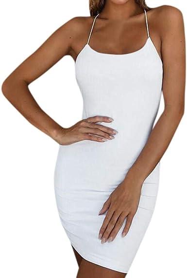 SHOBDW Vestidos Mujer Día de San Valentín Presente Soild Sexy ...