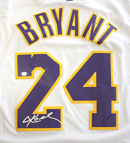 Kobe Bryant Los Angeles Lakers Signed Autographed White #...