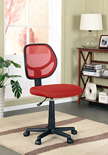 Kings Brand Furniture Mesh Task & Computer Office Chair, Red by Kings Brand Furniture