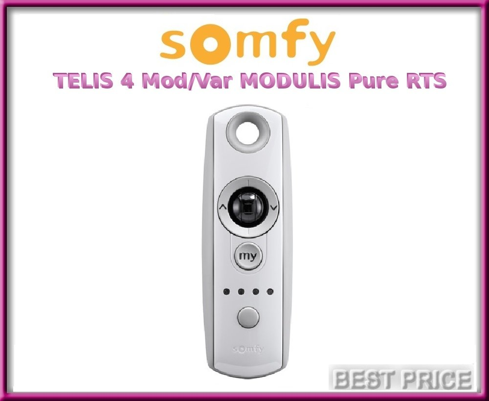 Somfy TELIS 4 Mod/Var MODULIS Pure RTS 5-channel remote control with scroll-wheel (catalogue number: 1810765)