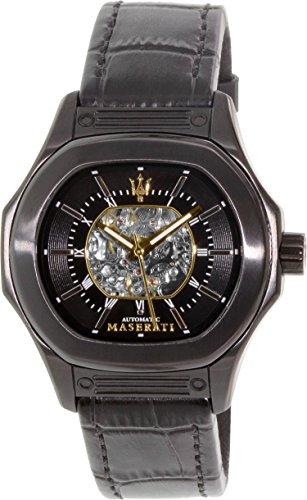 (Maserati Men's Fuoriclasse R8821116008 Black Leather Automatic Watch)