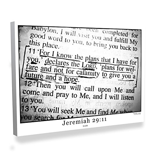 Jeremiah 29:11 Bible Verse Canvas Art