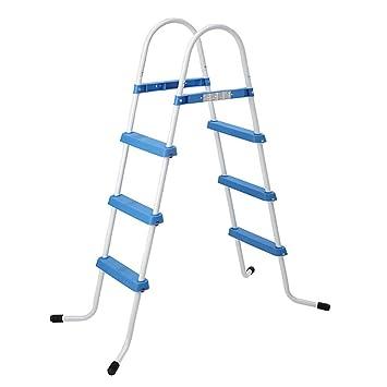 Jilong Pool Sicherheitsleiter bis 109 cm Poolh/öhe 3 Stufen klappbar Schwimmbad Treppe Beckenleiter Poolleiter Leiter Einstieg f/ür Aufstell-Schwimmbecken aller Art und Hersteller