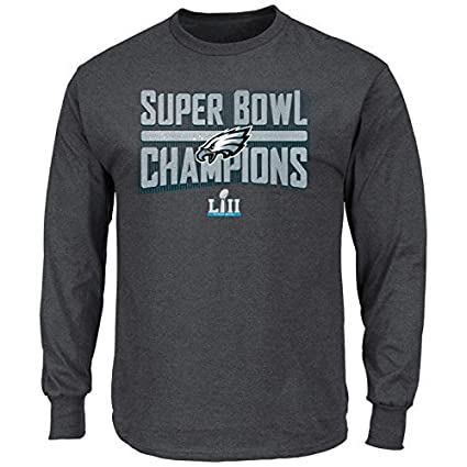 c058d32efb7 Philadelphia Eagles 2018 Super Bowl Champions Sudden Impact Pro Line Mens  Charcoal Grey Champions Long Sleeve