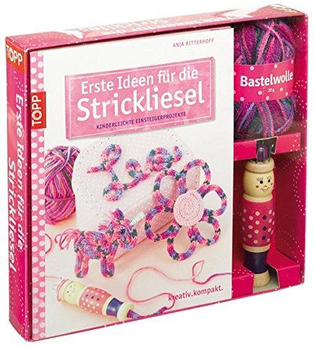 Kreativ-Set: Erste Ideen für die Strickliesel: 24 x 19,5 x 4,5 cm, mit Wollknäuel (20g), Strickliesel, Stricknadel + Buch (32 Seiten, Softcover)