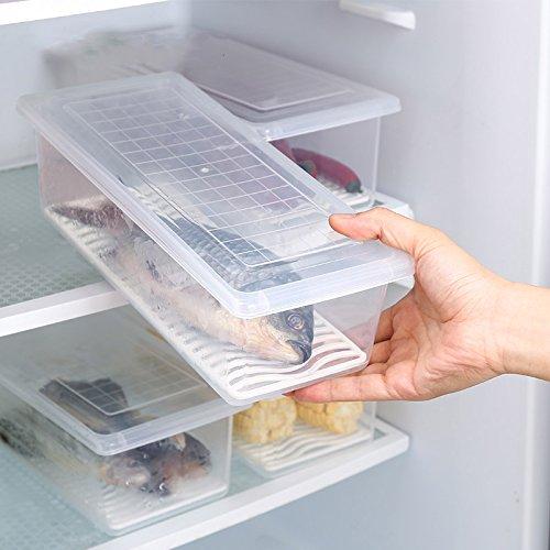 Miniinthebox 1 pieza nevera y congelador apilable organizador de ...