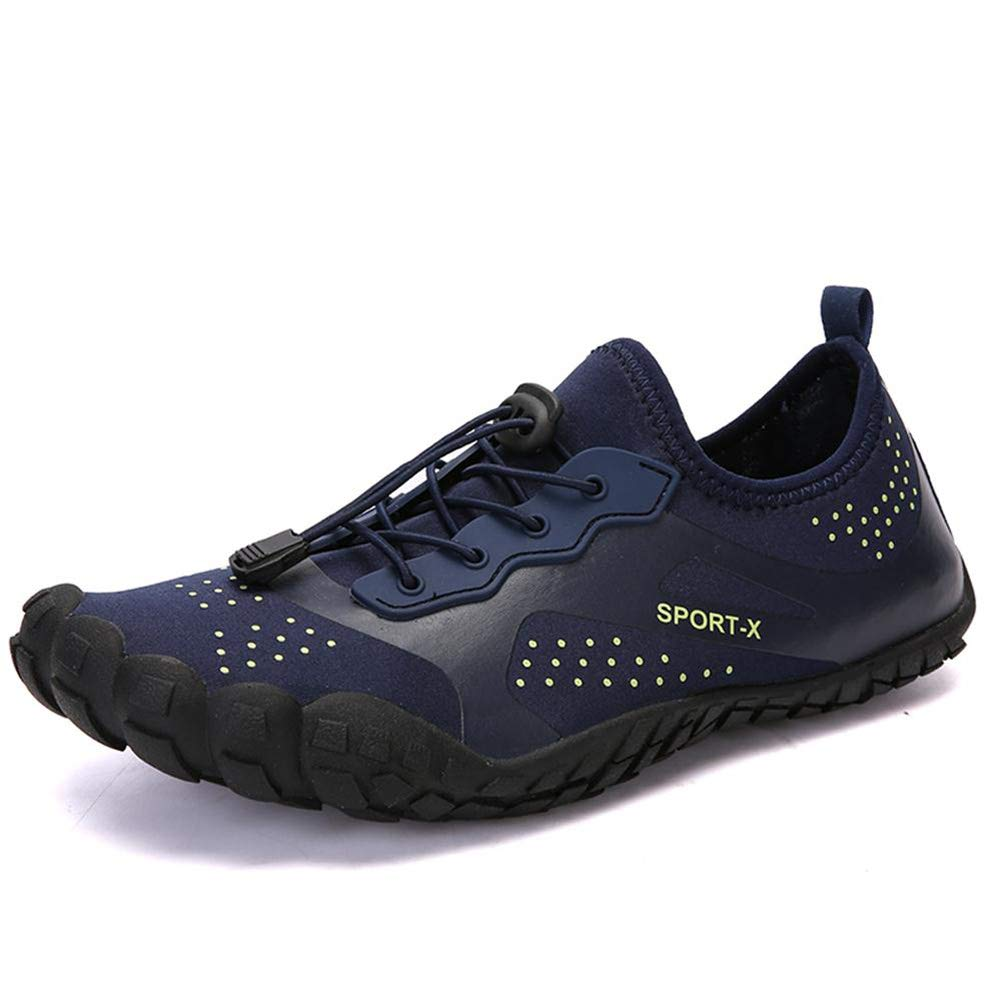 CIOR Men Women Water Shoes Quick Dry Outdoor Sport Slip on Breathable Barefoot-1navy-38