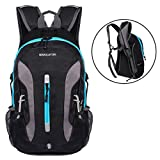 Advocator 20L Lightweight Cycling Hiking Backpack Water Resistant Travel Small Daypack With Helmet Storage (blue)