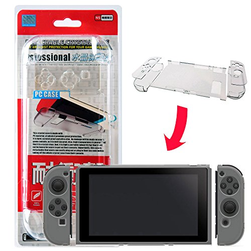 - Mcbazel Transparent Crystal Clear Hard Protective Case Scratch Proof for Nintendo Switch