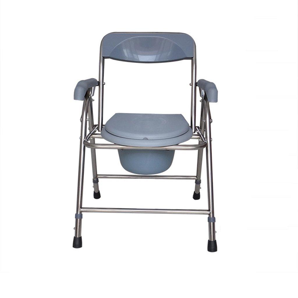 トイレの椅子、折りたたみ可能な可動式の滑り止めのバスルーム老人の妊婦のトイレの椅子 B078Q3P8Q8