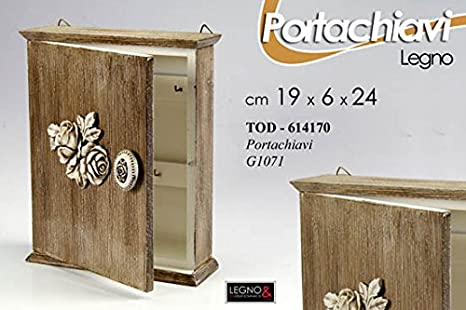 Pareti In Legno Shabby : Portachiavi in legno da parete 19*6*24 cm shabby chic: amazon.it