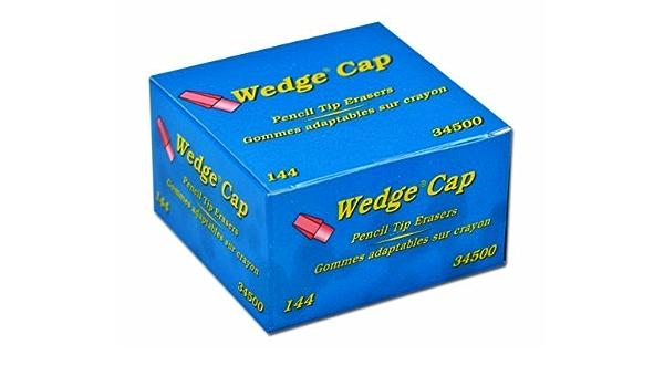 Status Plus  Pencil Tip Cap Top Wedge Eraser 144 Count Box